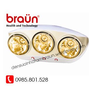 đèn sưởi braun 3 bóng vàng BU03G