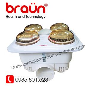 Đèn sưởi Braun 4 bóng vàng Bu04G