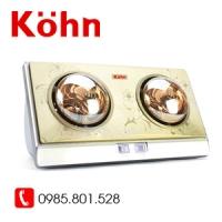 Đèn sưởi Kohn 2 bóng vàng KN02G