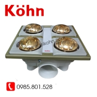 Đèn sưởi Kohn 4 bóng vàng KN04G