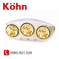 Đèn sưởi 3 bóng Kohn vàng KU03G