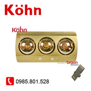 3 bóng vàng có điều khiển KN03GR