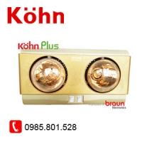 Đèn sưởi Kohn 2 bóng vàng KP02G