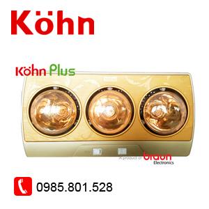Đèn sưởi 3 bóng Kohn vàng KP03G